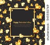 valentines day vector... | Shutterstock .eps vector #545550769