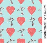 vector seamless patterns. red...   Shutterstock .eps vector #545563891