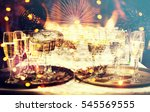 new year fireworks  happy new...   Shutterstock . vector #545569555