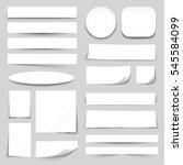 white blank paper strips circle ... | Shutterstock .eps vector #545584099