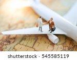 miniature businesses people due ... | Shutterstock . vector #545585119