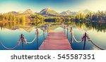 panorama mountain lake  autumn  ... | Shutterstock . vector #545587351