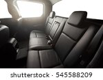 Small photo of Black pickup back leather seat with isolated windows