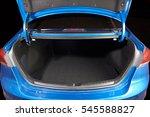 open clean modern blue car... | Shutterstock . vector #545588827