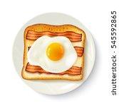 american breakfast food top...   Shutterstock .eps vector #545592865