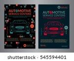 automotive service centers... | Shutterstock .eps vector #545594401
