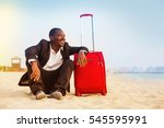 african businessman traveling... | Shutterstock . vector #545595991