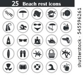 set of simple beach rest and... | Shutterstock .eps vector #545596261