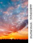 natural sunset  sunrise over... | Shutterstock . vector #545603899