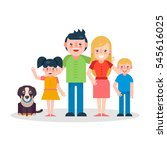 young parents flat illustration.... | Shutterstock . vector #545616025