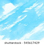 blue bright watercolor hand... | Shutterstock . vector #545617429