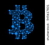 currency bitcoin. an example of ... | Shutterstock .eps vector #545617831
