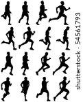 Running Man Black Silhouettes ...