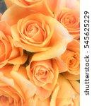 bouquet of fresh orange ... | Shutterstock . vector #545625229