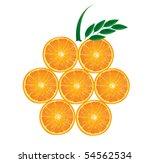 orange made of orange slices... | Shutterstock .eps vector #54562534