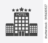 hotel icon isolated on white...   Shutterstock .eps vector #545630527