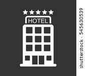 hotel icon isolated on black... | Shutterstock .eps vector #545630539