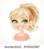 beautiful blond girl with... | Shutterstock .eps vector #545632387
