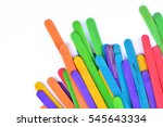 colorful wood ice cream stick   Shutterstock . vector #545643334