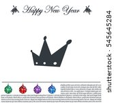 crown   vector icon | Shutterstock .eps vector #545645284