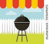 barbecue grill icon. delicious... | Shutterstock .eps vector #545649691