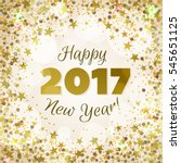 happy new year 2017 greeting...   Shutterstock .eps vector #545651125