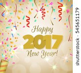 happy new year 2017 greeting... | Shutterstock .eps vector #545651179