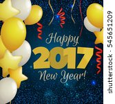 happy new year 2017 greeting...   Shutterstock .eps vector #545651209