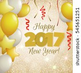 happy new year 2017 greeting...   Shutterstock .eps vector #545651251