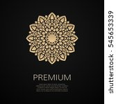 golden flower shape. gradient... | Shutterstock .eps vector #545653339