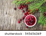 fresh homemade cranberry sauce... | Shutterstock . vector #545656369