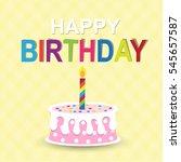 happy birthday card | Shutterstock .eps vector #545657587