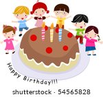 birthday celebration | Shutterstock .eps vector #54565828