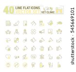 vector graphic set. icons in... | Shutterstock .eps vector #545669101