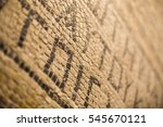 closeup view of an ancient... | Shutterstock . vector #545670121