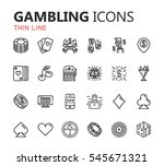 simple modern set of casino and ... | Shutterstock .eps vector #545671321