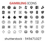 simple modern set of casino and ... | Shutterstock .eps vector #545671327
