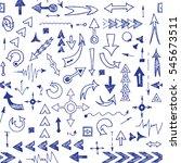 seamless pattern of hand drawn... | Shutterstock . vector #545673511