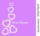 background for valentines day.... | Shutterstock . vector #545679637