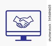 icon handshake pictogram with...   Shutterstock .eps vector #545684605
