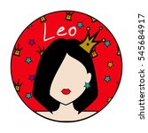 leo zodiac sign. icon with... | Shutterstock .eps vector #545684917