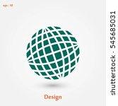 globe earth icon  flat design... | Shutterstock .eps vector #545685031
