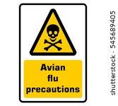 avian flu precautions   Shutterstock .eps vector #545689405