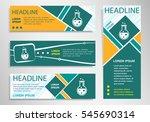 glass bulb icon on horizontal... | Shutterstock .eps vector #545690314
