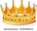 royal gold crown | Shutterstock .eps vector #545695621