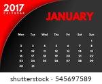 vector calendar for 2017 year....   Shutterstock .eps vector #545697589