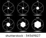 different camera shutter... | Shutterstock .eps vector #54569827