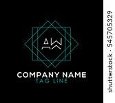 aw logo | Shutterstock .eps vector #545705329