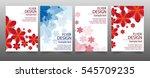 set of flyer design. brochure... | Shutterstock .eps vector #545709235