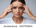 health and pain. stressed...   Shutterstock . vector #545709844